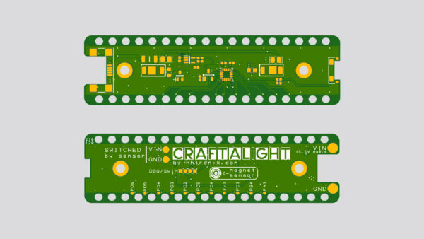 Craftalight PCB rendering