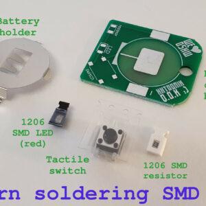 I learn soldering SMD kit